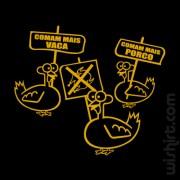 T-shirt Comam Mais Porco