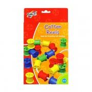 Bobine din plastic pentru activitati de indemanare / Cotton Reels