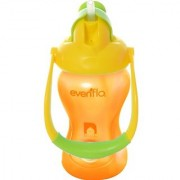 Evenflo Advanced Straw Cup with Swinging Handle YellowithOrange 8 Ounce