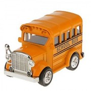 Magideal Pull Back School Bus Model Car Educational Toy Kids Gift-Orange