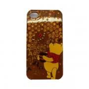 Funda Protector Mobo iPhone 4G/4S Pooh Cafe con Brillitos
