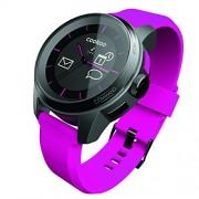 Cookoo Smartwatch Classico Bluetooth con Vibrazione, Rosa/Nero