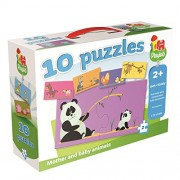 Playlab 10-in-1 Jumbo Mother and Baby Animals Jigsaw Puzzles
