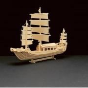 Pebaro Holzbausatz Dschunke, aufgebautes Maß: 38 x 15 cm
