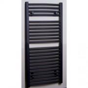 Designradiator Gebogen Sanicare 111.8x45cm 601 Antraciet Zijaansluiting
