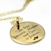 14K Gouden Munt - The love between Mother and Son is forever