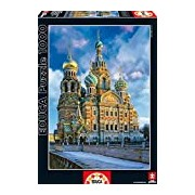 Educa 16289 Jigsaw Puzzle 1000 Pieces - The Christ Resurrection Church, St. Petersburg