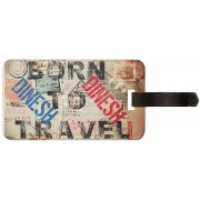 Exoctic Silver DINESH LUGGAGE TAG ( BTT )001 Luggage Tag(Multicolor)