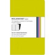 Moleskine Volant Extra Small Ruled Green by Moleskine