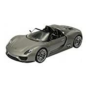 """Welly """"Porsche 918 Spyder M"""" Car (Grey)"""
