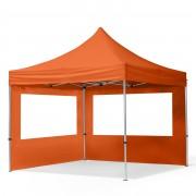 Intent24 3x3m Tente pliante , ECONOMY Alu, orange