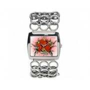 Ed Hardy EDLY-HT Ladies Lynx Heart Pink Dial Bracelet Watch