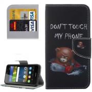 Huawei Y6 Pro Little Bear Pattern Leather Case with Holder & Card Slots & Wallet