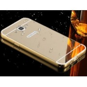 Vinnx™Samsung Galaxy E7 Luxury Metal Bumper + Acrylic Mirror Back Cover Case For Samsung Galaxy E7 (Golden)