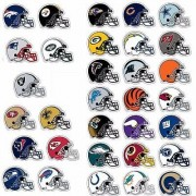 All 32 NFL Teams Logo Helmet Stickers - Complete Football Die Cut Sticker Team Set