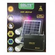 Kit Solar Mobil cu Becuri, Radio FM si Acumulator 12V 7Ah GD8012