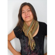 Hand Loomed Loose Weave Cotton Scarves Mixed colour
