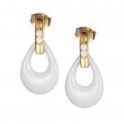 Touch of Elegance - Cercei de argint Preciosa (White)