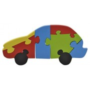 Skillofun Wooden Take Apart Puzzle Large - Car, Multi Color