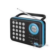 Radio portabil Sencor SRD 220 BBU, cu desteptator, negru-albastru