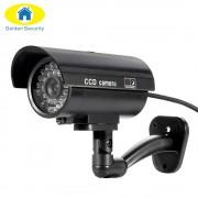 Golden Security TL-2600 Waterproof Outdoor Indoor Fake Camera Security Dummy CCTV Surveillance Camera Night CAM LED Light Color