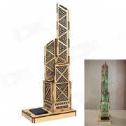 XiaoHaiTongXiang DIY Bank of China Tower Style Colored Drawing + Automatic Solar Light Sensation