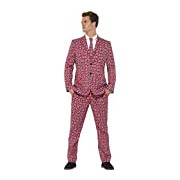 Smiffy's Adult men's Union Suit, Jacket, trousers and Tie, Stand out Suits, Serious Fun, Size L, 43520