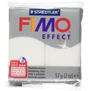 Staedtler 8020-052 Fimo Effect Polymer Clay 2-Ounce Glitter White