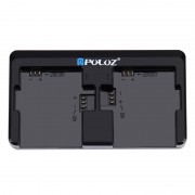 PULUZ Chargeur 2 canaux pour GoPro HERO4 / 3 + / 3 (AHDBT-301/201, AHDBT-401) (Noir)