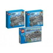 LEGO 7499 - 7895 City - Raíles flexibles (2 unidades) y desvíos para trenes