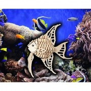 Puzzled Angel Fish Wooden 3D Puzzle Construction Kit