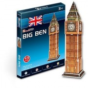 S3015h Cubic Fun 3d Puzzle Model London Big Ben (13pcs)