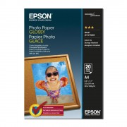 Papel fotográfico Epson A4 (210x297) 200g glossy S041140 - 20 Folhas
