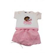 Costumas Dora cu fustita roz