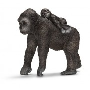 Schleich - 14662 - Figurine - Gorille avec Son Bébé - Femelle