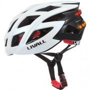 Casca Bike Bluetooth + Microfon, Alerta SOS, Led Semnalizare Alb LIVALL
