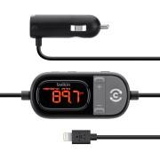 Belkin TuneCast Auto - FM трансмитър за iPhone 5S, iPhone 5, iPhone SEC, iPhone 5, iPhone 6, iPhone 6S, 6 Plus