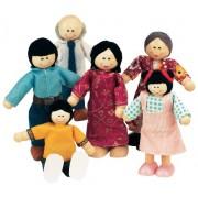 Small World Toys Ryans Room Wood Doll House -Family Affair Asian-American Doll Family