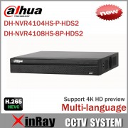 Cost Effective Dahua 6MP Network Video Recoder NVR4108HS-8P-HDS2 NVR4104HS-P-HDS2 4/8CH NVR Support ONVIF CGI Conformant