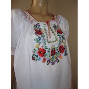 Hand embroidered Matyo Hungarian blouse size L - XL - MC code