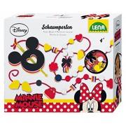 Lena 42028 - Kit per realizzare collane e braccialetti con perline di schiuma, soggetto: Minnie
