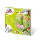Gyurma készlet, 4x42 g, égethető, FIMO Kids Form & Play, tündérek