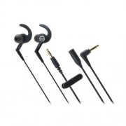 Audio Technica ATH-CKP500 In ear Sports Headphones with C-Shaped Eartips (Black)