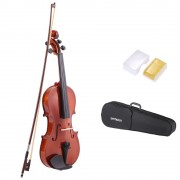 Ammoon Violon Acoustique 1/2 Taille Épinette L Instrument À Cordes Pour Musique Amateurs Débutants