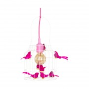 Dutch Dilight Vogeltjes Hanglamp Fuchsia Medium