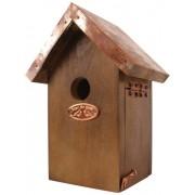 Esschert Design NK06 20 x 14 x 11cm Wood Wren Nest Box Copper Roof - Brown