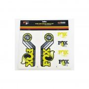 Fox Racing Shox Fork and Shock Decal Kit Media żółty Media