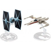 Hot Wheels Star Wars Rogue One Tie Fighter Blue vs. X-Wing Red 2 Wings Open Vehicle 2 Pack