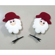MY PARTY SUPPLIERS Merry Christmas Santa Clause Hair Clip / Santa Claus Clip Gift / Christmas Party Favors / Christmas Clip