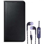 Lava A89 Flip cover With Tarang Earphone Wired With Mic